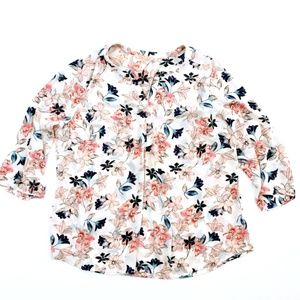 Gibson Latimer Women's Floral Shirt Top 2X